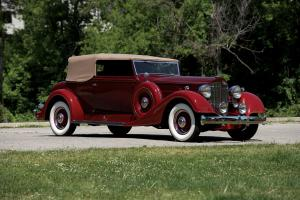 1934 Packard Model Super Eight 1104 Convertible Victoria